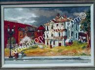 #11 The Rooming House on Olive Street 24 x 36 Oil, Painted in 1959 (P)