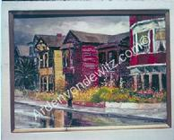 #19 Bunker Hill Gardens and Homes 18 x 24 Oil, Painted in 1959