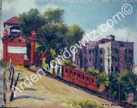 #22 Angels Flight Railway 16 x 20 Oil, Painted in 1959
