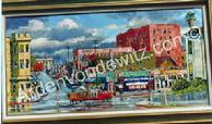 #23 Rainy Day at 3rd and Grand 24 x 48 Oil, painted in 1962