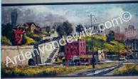 #24 Hope Street Wall 24 x 48 Oil, Painted in 1961