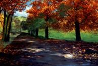 #193 Golden October 24x48 Oil