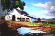 #313 The Old White Barn 24x36 Oil