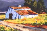 #531 The Old White Barn 18x24 Oil
